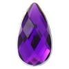 Acrylic 21x12mm Pear Shape Purple